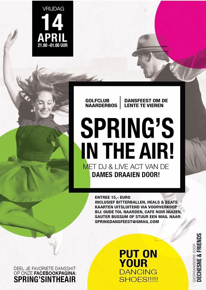 Spring's in the air, dansfeest om de lente te vieren