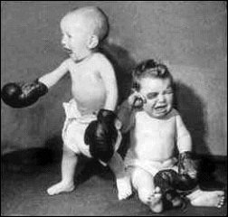 baby fighting