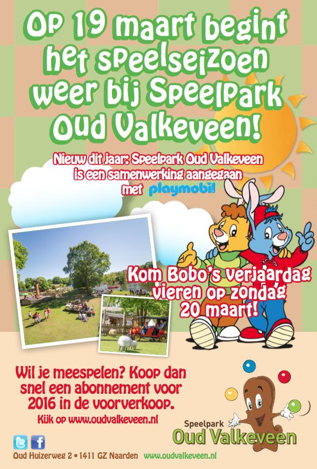 Speelpark Oud Valkeveen opent 19 maart haar deuren
