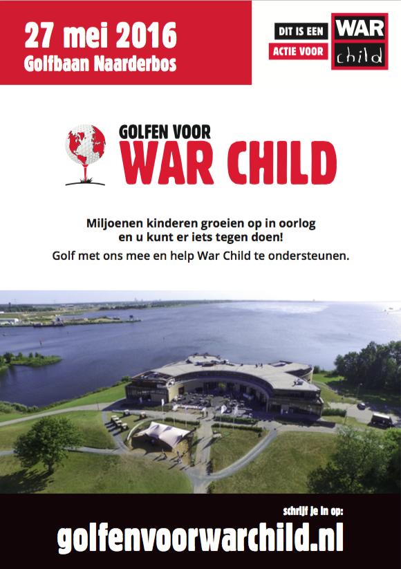 Golfen voor War Child op Golfbaan Naarderbos