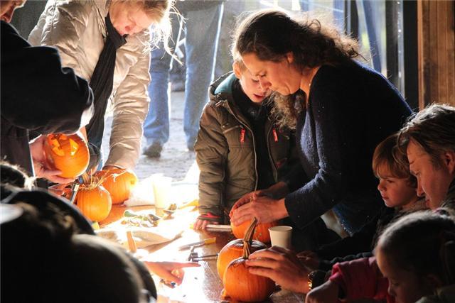 Halloween vieren in de Schaapskooi op de Blaricummerheide