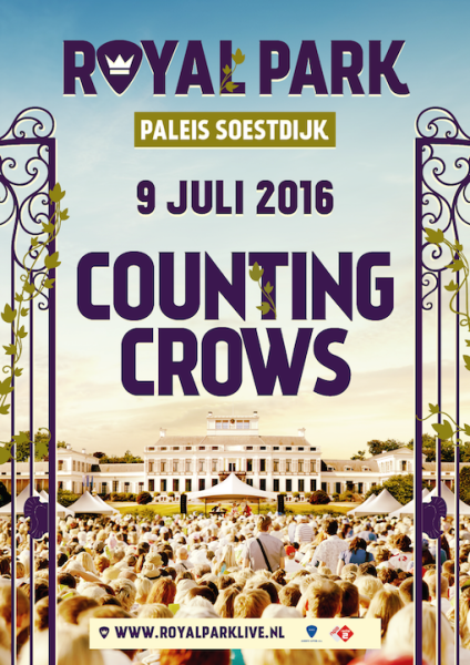 Poster - Counting Crows - Royal Park Live - 9 juli 2016