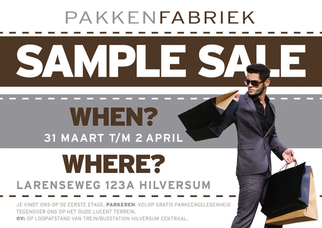 Gooische Sample Sale van PakkenFabriek