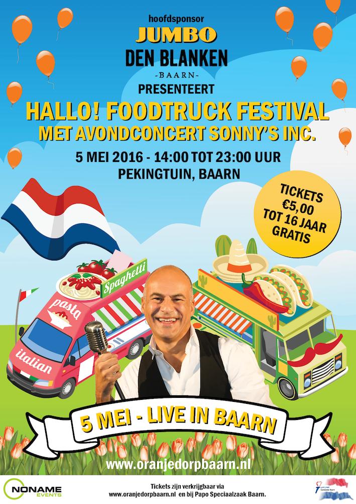 Hallo! Foodtruck festival met concert van Sonny's Inc.