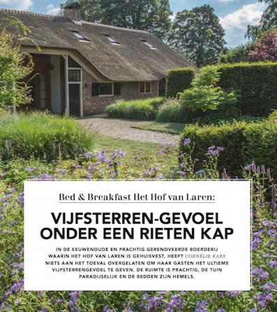 B&B 'Het Hof van Laren' beste van Nederland?