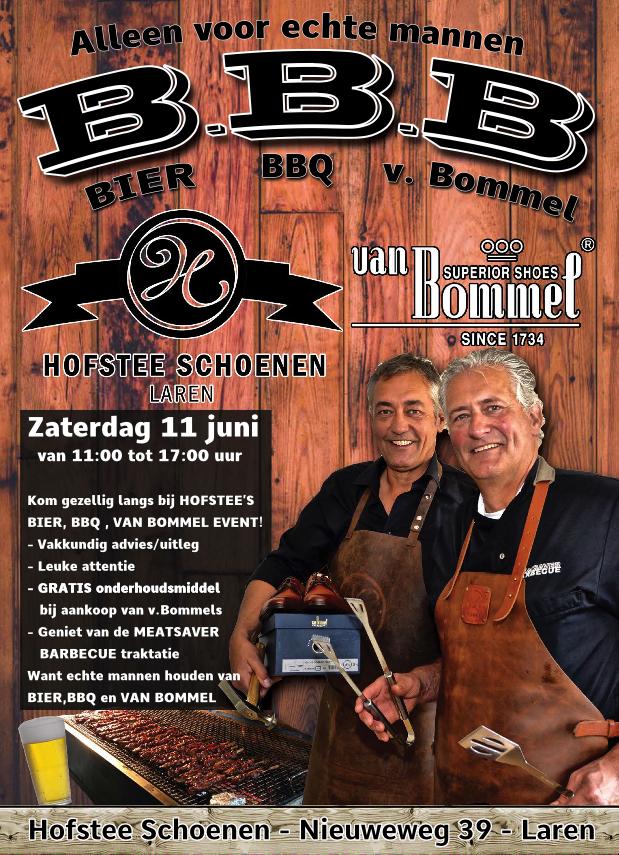 Bier, BBQ, Van Bommel- event bij Hofstee schoenen in Laren