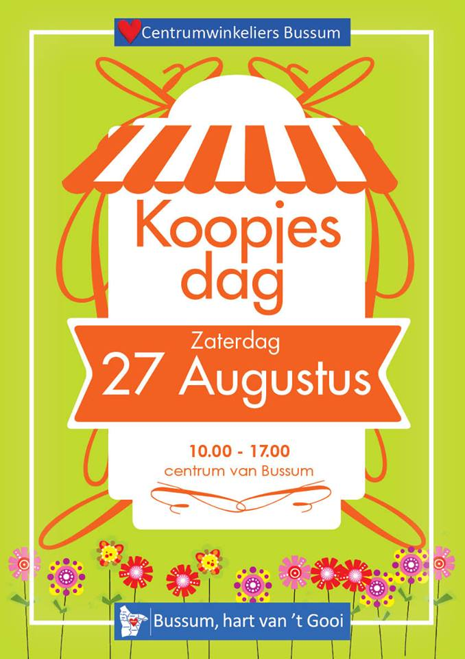 Zaterdag Koopjesdag in Bussum