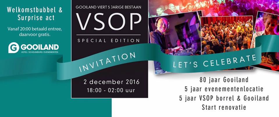 Vrijdag 2 december VSOP Vrijdagborrel bij Gooiland