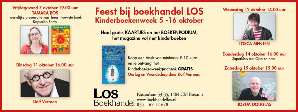 Boekenfeest bij LOS in Bussum