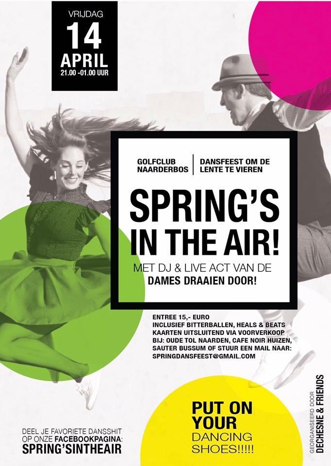 Spring's in the air, dansfeest om de lente te vieren