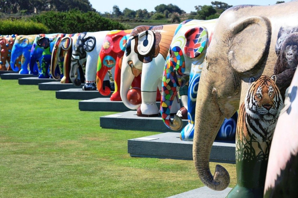 Laren vol olifanten
