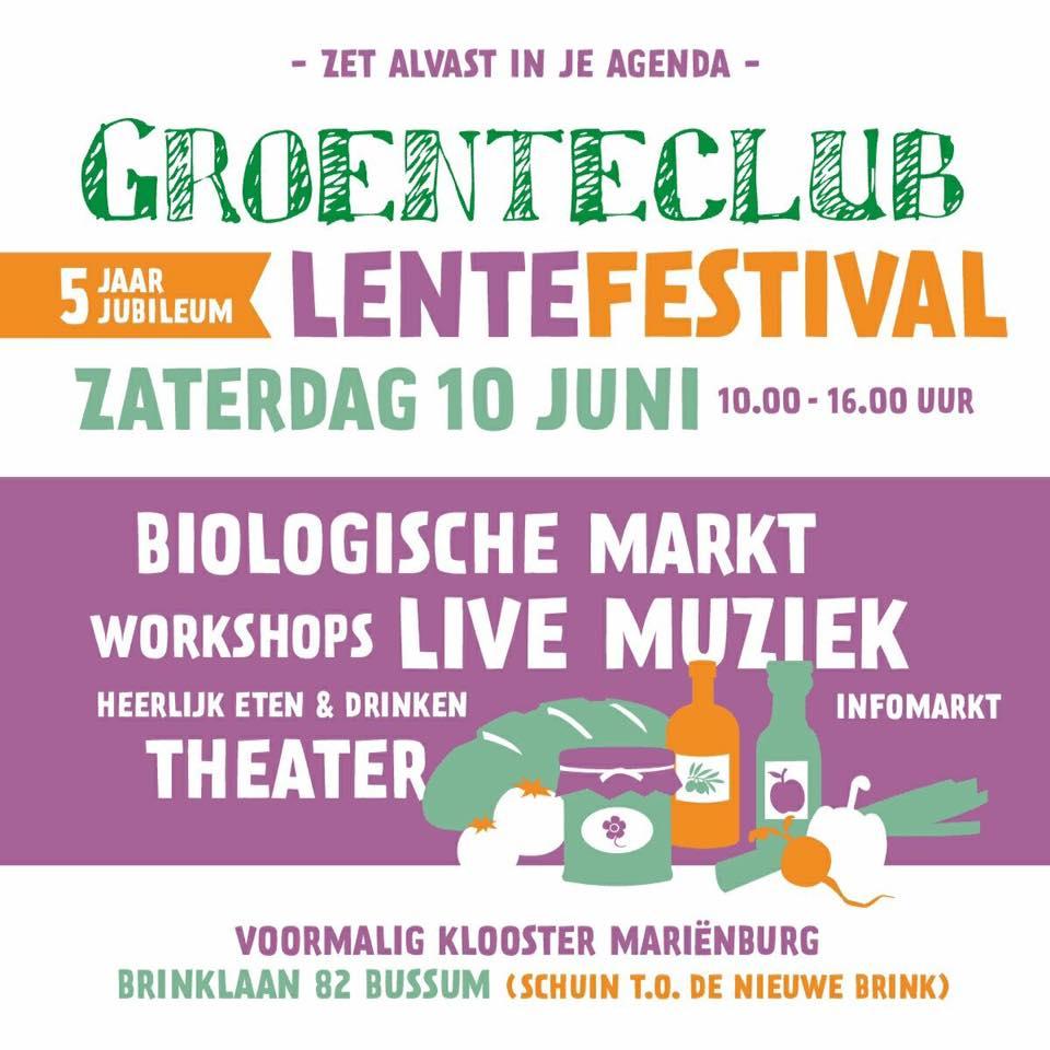 Groenteclub Lentefestival 10 juni in tuin Mariënburg