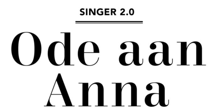 Ode aan Anna Singer